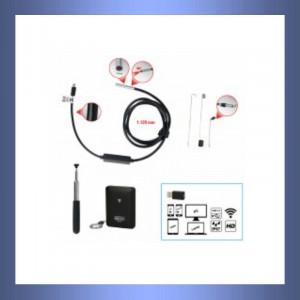 Kamera, Frontkamera, HD Kamera, HD Frontkamera, Sonde, Video, Videoskop, Smartphone, Foto, Lampe, LED Lampe, Fiberglaskabel, Sondenkopf,