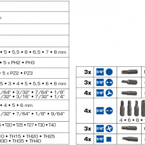 Bit, Bitsatz, Bitschlüssel, Bitschrauber, Kreuzbit, Kreuzschlitzbit, Bithalter, Magnetischer Bithalter, Aussensechskant, Stecknussadapter, Bitadapter, Kreuzschlitz, Kreuzschlitzbit, PH, PH O, PH1, PH2, PH 3, PH Bit, PZ, PZ Bit, PZ0, PZ1, PZ2, PZ3, Vierkantbit, Schlitzbit, Spannerbit, Spannerbits, Klöammerbit, Klammerbits, Tri Wing Bit, Tri Wink Bits, Four Wink Bit, Four Wing Bits, Torx, Torxbit, Torx T8, Torx T10, Torx T15, Torx T20, Torx T25, Torx T27, Torx T30, Torx T35, Torx T40, Sechskant, Sechskantbit, Sewchjskantbits, Vielzahn, Vielzahnbit, Vielzahnbits, XZN, XZN Bit, Flügelmutter, Verlängerung, Bithalter, Magnetischer Bithalter,