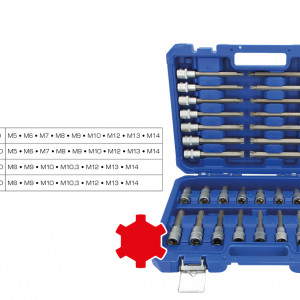 Ribe,Steckschlüssel,Ribesteckschlüssel,M5,M6,M7,M8,M9,M10,M12,M13,M14,Ribeschlüssel,Chrom Vanadium,Chromvanadium