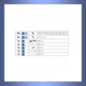 Steckschlüsselsatz, Steckschlüssel, Knarre, Ratsche, Umschaltknarre, Umschaltratsche, Zündkerzenschlüssel.Zündkerzeneinsatz, Stecknuss, Stecknüsse, Stecknussatz, Kardan, Kardangelenk, Verlängerung,