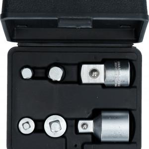 dapter,Adaptersatz,Werkzeug,Aussenvierkant,Innenvierkant,Chrom-Vanadium-Stahl,verchromt,Brilliant Tool,