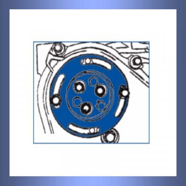Wasserpumpe, Fixierwerkzeug, Riemenscheibe,Motor,